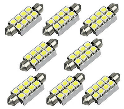8pcs Soffitte C5W 8 SMD 5050 LED 42MM Weiss CANBUS Innenraum Lampe Deutsche Post