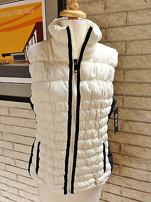 New Marc New York Women's Performance Straight Zip Vest ! Puffer L Ivory