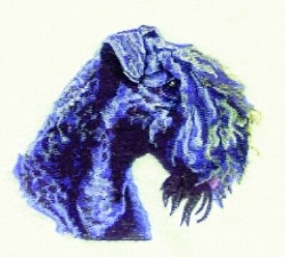 Embroidered Long-Sleeved T-Shirt - Kerry Blue Terrier BT3603  Sizes S - XXL