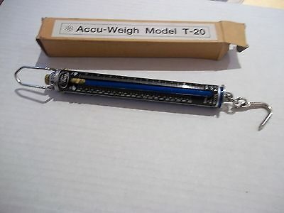 Yamato Model T-20 Accu-weigh hanging tube spring scale NIB 20# 10kg