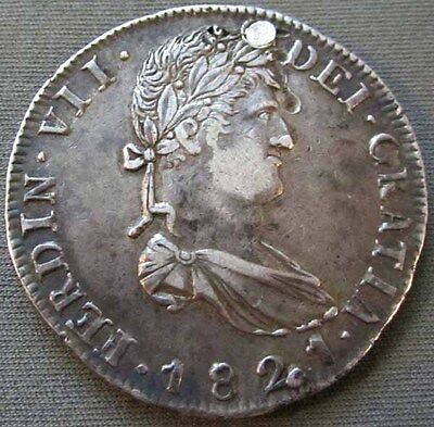 Mexico - War Of Independence 1821 Zs, RG Silver 8 Reales - Damaged