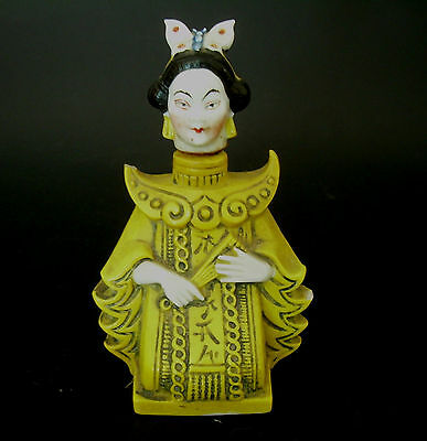 Antique German Porcelain Madame Butterfly Chinoiserie Perfume Scent Bottle Japan