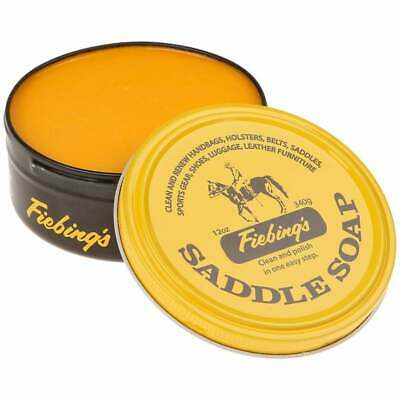 Fiebings Leather Saddle Soap Yellow 340g 12oz Cleans & Maintains Smooth Leather