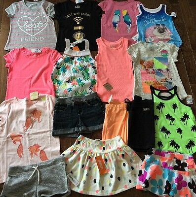 Huge Girls Nwt Summer Lot Clothes Outfits 5t Justice Gymboree