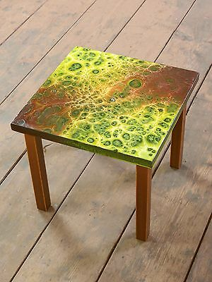 alter Retro Mid Century Nierentisch Blumenhocker Hocker Stool Vintage Table A