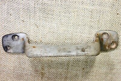"old Barn Door Tool Box 6 3/4"" Handle Pull rustic cast aluminum tarnished genuine"