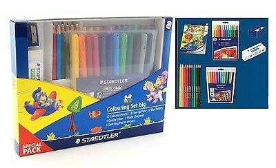 Staedtler Colouring Set Matite colorate-Pennarelli-Pastelli cera-gomma-temperino