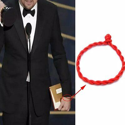 2 Pcs Women Men Simple Hand Braided Lucky Red String Rope Cord Bracelet Bangle