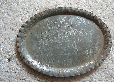 W.R. BENNETT CO. OMAHA NE Nebraska - ANTIQUE ADVERTISING TIP TRAY 1878 - 1898