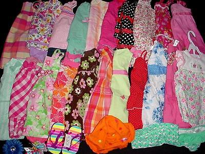 40pcs USED BABY GIRL 18 24 MONTHS SPRING SUMMER CLOTHES LOT