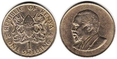 Kenya, 1 Shilling, 1966, 28 mm, 7.9 gr, Copper-Nickel, KM# 5