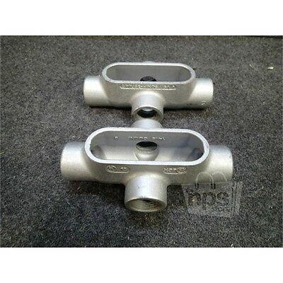 """Box of 2 Crouse-Hinds X37 1"""" Form 7 Conduit Outlet Bodies, Iron Alloy"""