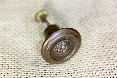 "1"" Door Knob Cabinet Drawer Pull Old interior shutter flower brass iron vintage"