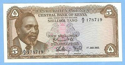Banknote Money Currency from Kenya--5 Shillings, 1966--UNC!