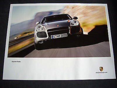Porsche First Official Cayenne Turbo Model Official Showroom Poster 2003