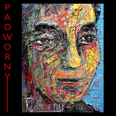 Modern Impressionism Art Signed Realism Oil Male Painting Abstract Man Outsider