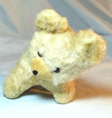 SUPERB VINTAGE SOFT TOY BEAR CUB WITH GLASS EYES CIRCA 1930s-50s