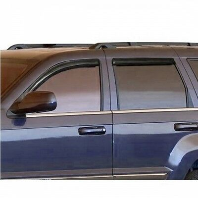 Jeep Grand Cherokee WH WK Wind deflector Smoked glass Acrylic Hide window 05-10
