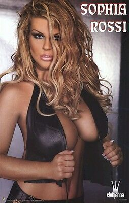 SOPHIA ROSSI ~ LEATHER 22x34 PINUP POSTER Club Jenna Jameson NEW/ROLLED!