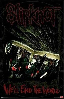 SLIPKNOT ~ WE'LL END THE WORLD 22x34 MUSIC POSTER Shawn Crahan Paul Gray