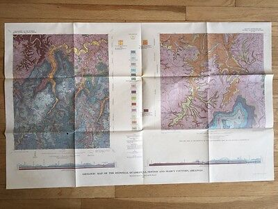 Vintage 1965 US Geological Snowball Quadrangle Map Newton Searcy County AR