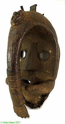Dan Mask Deangle with Hand Covering Liberia African Art