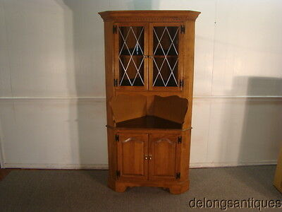 42551:Ethan Allen Solid Maple Corner China Cabinet
