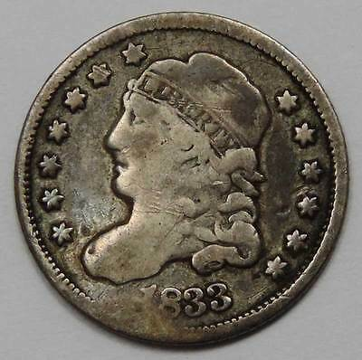 1833 Capped Bust Silver Half Dime.