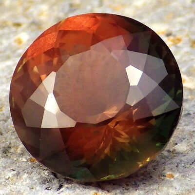 GREEN-ORANGE MULTICOLOR SCHILLER OREGON SUNSTONE 8.52Ct FLAWLESS-TOP INVESTMENT