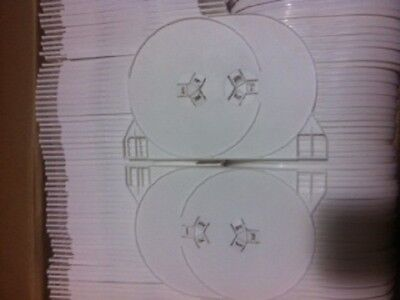 10 pcs 2-Disc Double White DVD Tray, Made in the USA,1131Q