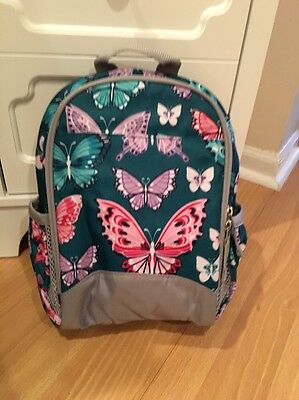 Pottery Barn Kids Mackenzie Insulated Pre-K Backpack Lunch Bag NWT Butterfly