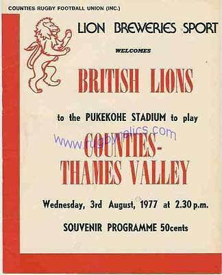 BRITISH LIONS 1977 v COUNTIES-THAMES VALLEY PROGRAMME *RARE*