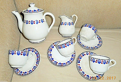 ANTIQUE 1800s STAFFORDSHIRE CHILDS TEA SET STICK SPATTER SPONGEWARE #1 OF 2
