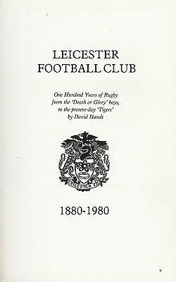 Leicester Tigers - Centenary History 1980 Rugby Book By David Hands