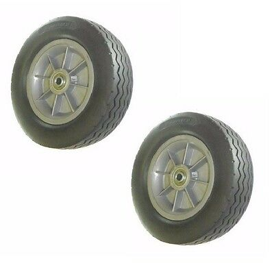 "(Two)Clearance Cushion Hand Truck Tire 10 x 2-3/4 - 1/2"" ID"