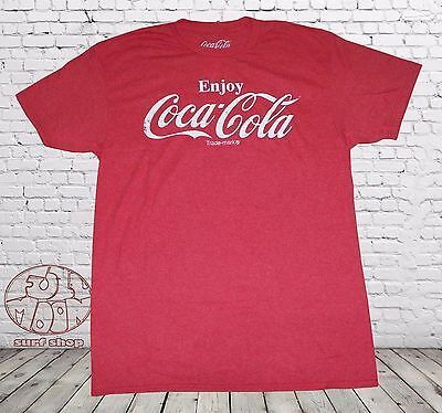 New Coca-Cola Coke Heather Red Mens Vintage Retro T-Shirt