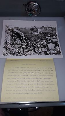 Vintage Original 7 X 9  Photo From Vietnam War View Of Airstrike With Troops