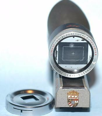 Linhoff Technika 4x5 variable lens finder viewfinder with 4x4 mask - Nice Ex+!