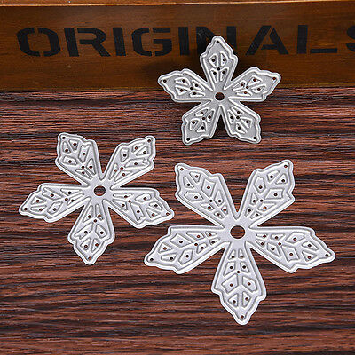 3 pcs/set Star Flower Stencil Cutting Dies Scrapbooking Embossing Paper Album