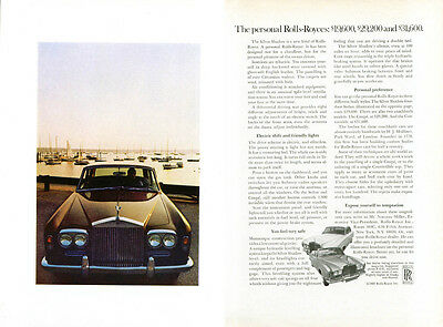 Personal Rolls-Royces $19,600 $29,200 $31,600 ad 1969 2 page
