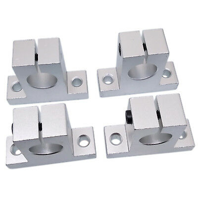 US Stock 4pcs SK20 20mm CNC Aluminum Linear Rail Shaft Guide Support Bearing