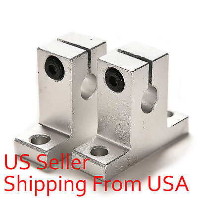 4 pcs SK8 8mm CNC Aluminum Linear Rail Shaft Guide Support Bearing New