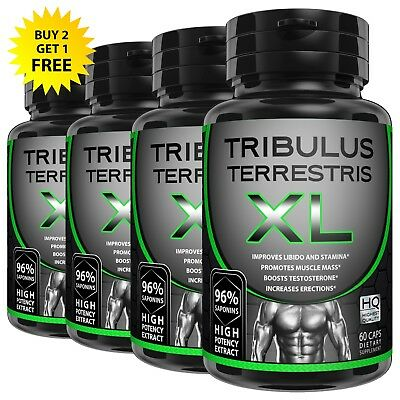 Tribulus Terrestris Extract 96% Saponins Build Muscle Testosterone Booster Pills