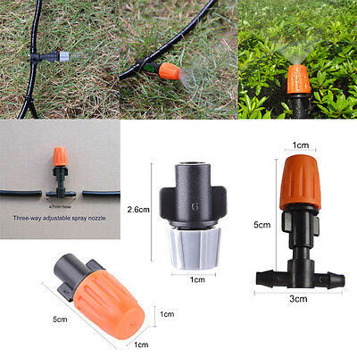 20pcs Garden Irrigation Sprinkler Mist Fog Single Head Adjustable Nozzle Spray