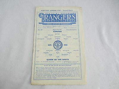 1963-64 SCOTTISH RANGERS v QUEEN OF THE SOUTH