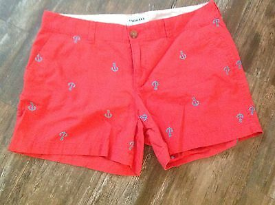 Womens Size 8 Old Navy Coral Anchor Shorts