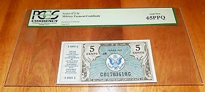 SERIES 472 $.05 FIVE cents Military Payment Certificate MPC PCGS 65 PPQ GEM NEW
