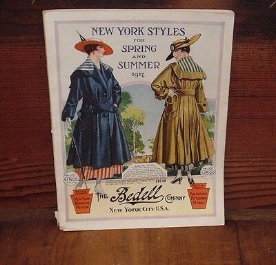 Antique 1917 Spring-Summer Fashion Catalog Bedell Company