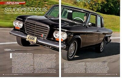 1963 Studebaker R2 Super Lark / Paxton Supercharged ~ Nice 4-Page Article / Ad