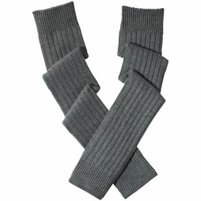 adidas By Stella McCartney Womens Knitted Grey Ribbed Leg Warmers Legwarmer RARE